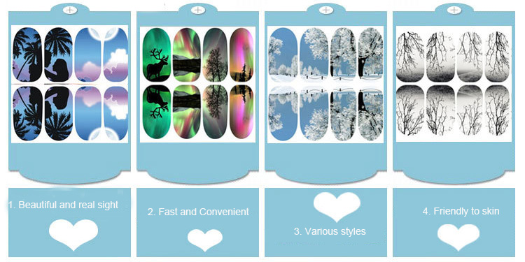 Mekeem Provide High Quality Nail Wraps Sticker
