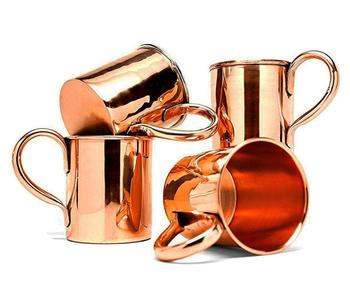drinking 450ml food grade classic solid copper moscow mule mug, wholesale cheap custom copper moscow mule mug