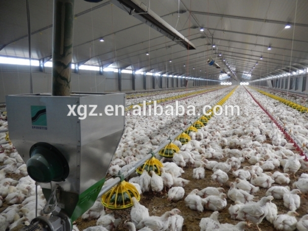 Prefabricted Steel Structure Chicken Poultry Farm House For Broiler