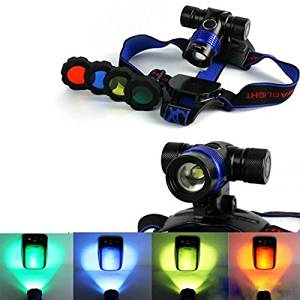 XM-L T6 Adjustable Focus LED Headlight With 4 Color Lamp Cover / : Product name:CREE XM-L T6 Adjustable Focus LED Headlight With 4 Color Lamp Cover . Model of LED: XM-L T6 . Output bri
