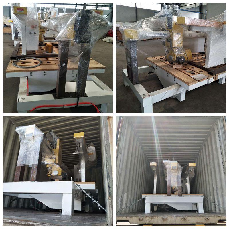 Titan 5 Axis Cnc Cad Input Kwarts Stenen Gootsteen Snijden Machines Brug Zag Machine
