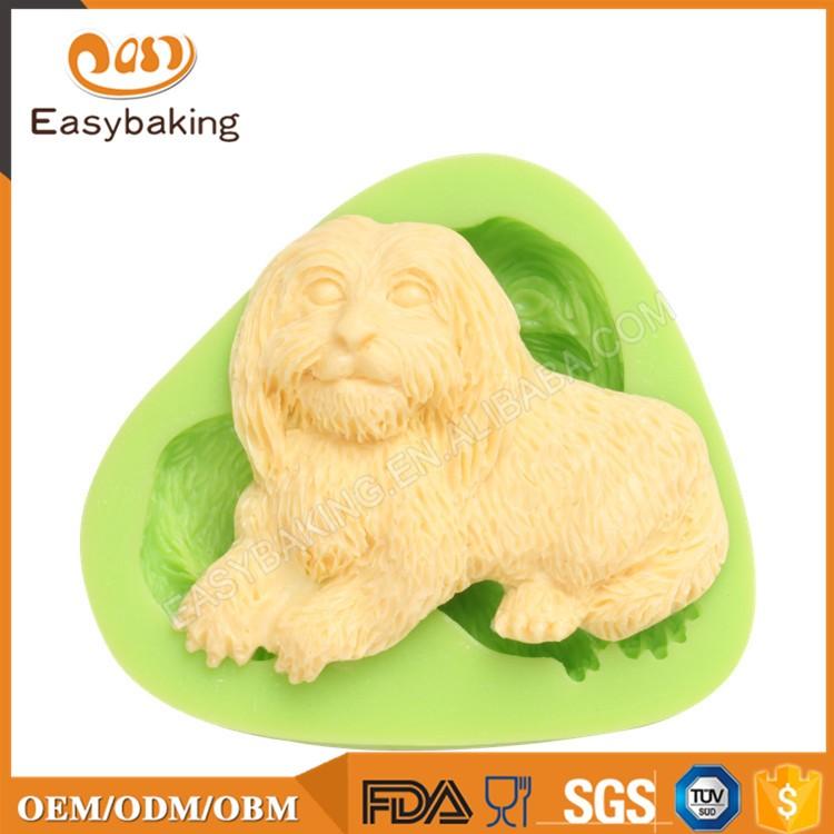 ES-0052 Dog shaped Silicone Molds Fondant Mould for cake decorating