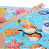 Rolimate 14-Piece Modern wooden kids magnetic fishing toy set Wooden jigsaw puzzle toy the best holiday gift for 2 + year olds