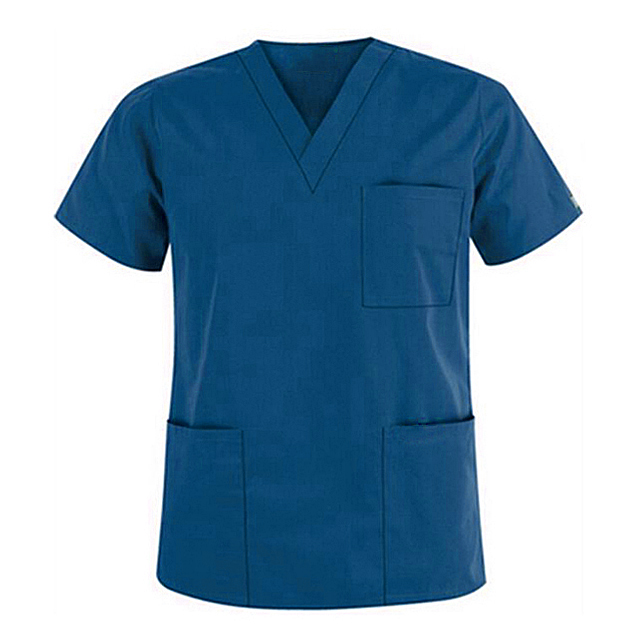 OEM โพลีผ้าฝ้าย Y คอแขนสั้นทันตกรรมคลินิกพยาบาลขัด Tops