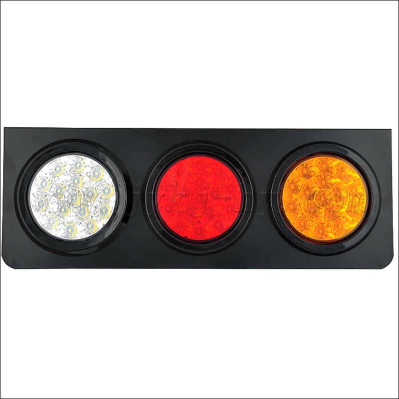 Toolmore 12//24V 3 LED Luz de etiquetade matricula de Coche Lampara de Paso Interior del camion Remolque RV Barco