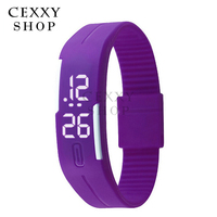 2016 Fashionable Cheap Waterproof Rubber Digital Silicone Led Watch For Sports