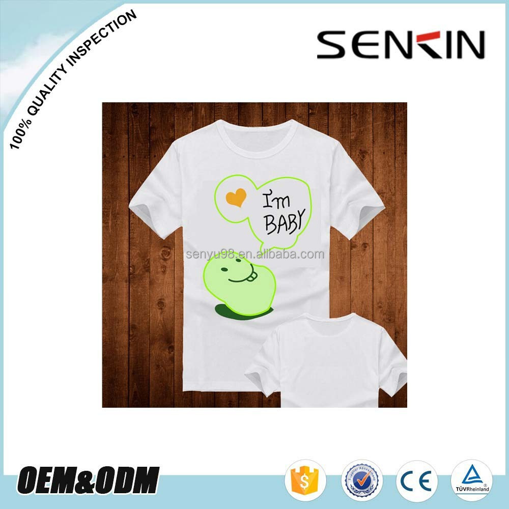 Wholesale baby short sleeve plain White T shirt Custom DIY Cartoon T shirt For Kids