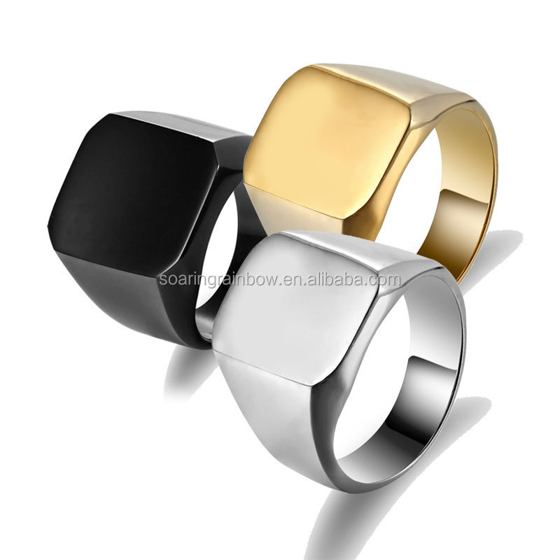 hot sale man ring plain boss finger rings wholesale