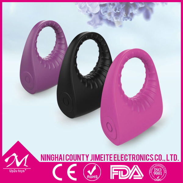 Rechargeable silicone penis enlargement vibrating cock ring, man sex toys pictures