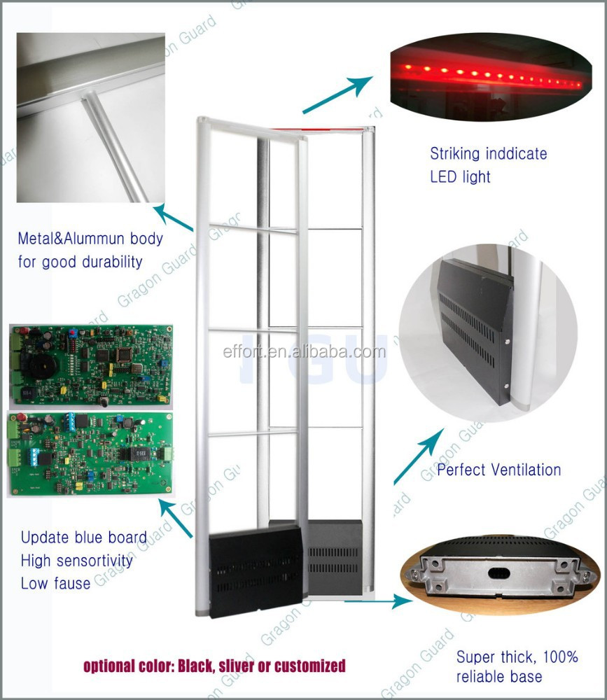 Shopping mall anti-theft alarms system wireless alarm jammer