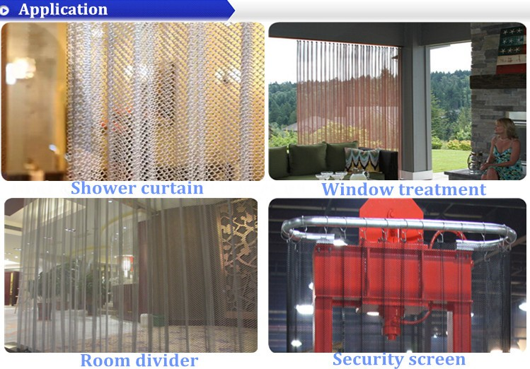 Architectural Cascade Coil Curtain Wall Woven Wire Fabric / Metal ...