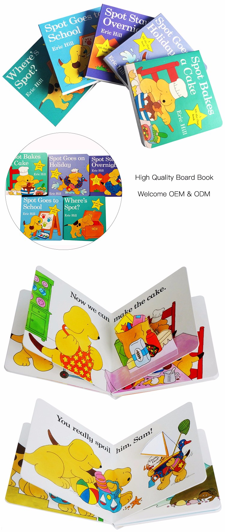 Hot sale custom customized kids story English leading reading books child hardcover children's book printing