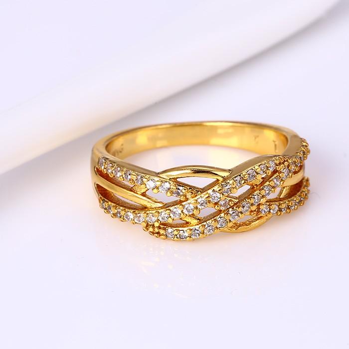 51ee413be315 Xuping Joyería 24 K Oro Color Oro Árabe Anillos De Compromiso - Buy ...