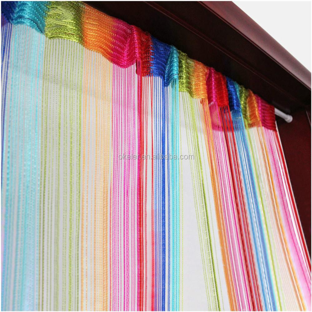 2016 hot koop 6 kleur kleurrijke hall divider gordijnen woonkamer ...