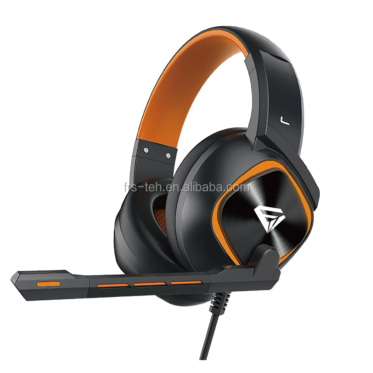Stereo Gaming Headsets/3.5mm Wired Over-ear Headphones with Microphone LED Light for PS4