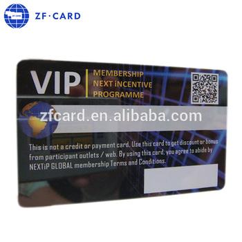 özel Pvc Plastik Kart Vip Kartı Için Qr Kodu Baskılı Buy Pcv
