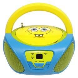 SpongeBob SquarePants CD Boombox with AM/FM Radio Toys Christmas Gift