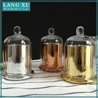 LX glass domes wholesale copper gold silver clear glass bell jars