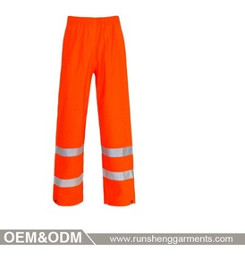 free shipping in china reflective tape work pants for men