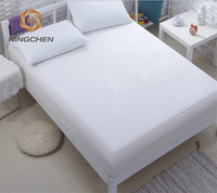 Plain White Cotton Massage Table Cover Sets Flat Bed Fitted Sheets