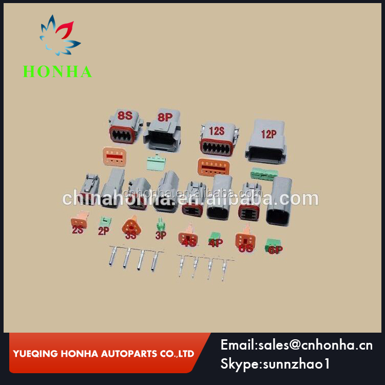 Electrical plastic DT series 2 3 4 6 8 12 pin male female electrical automotive deutsch connector