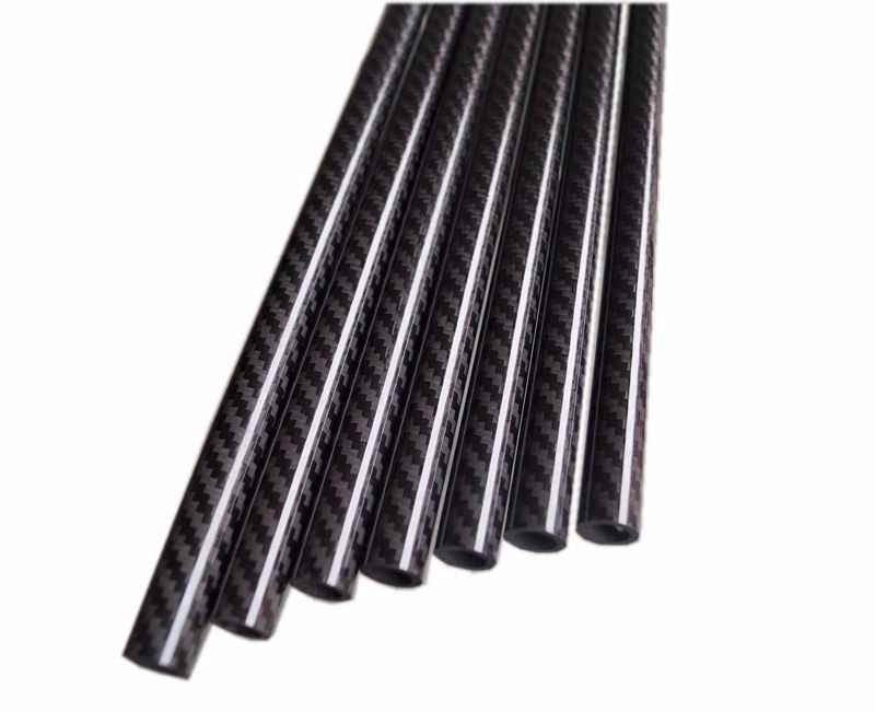 3k Twill Glossy Carbon Fiber Tube, Woven Carbon Fiber Tube (26)