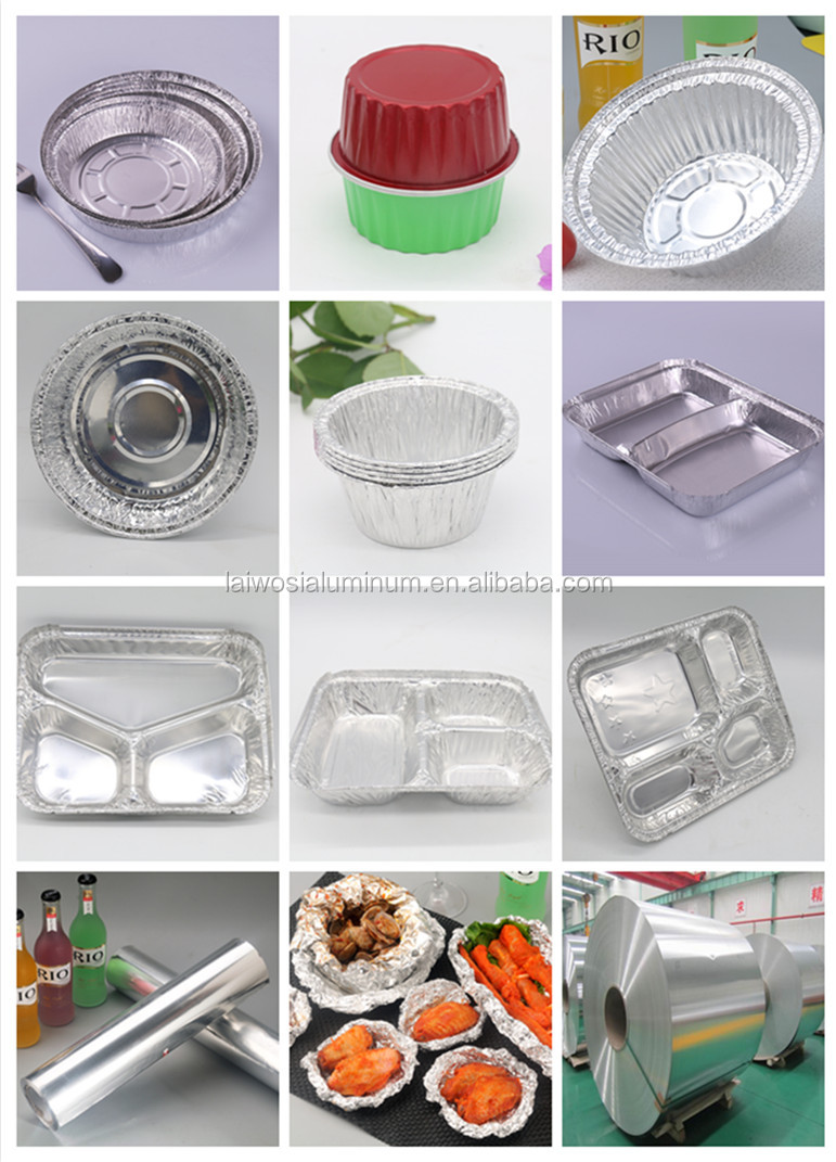 different sizes and shapes of aluminum foil containers and aluminum foil roll.jpg