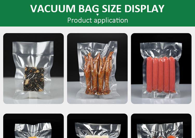 エンボス加工プラスチック収納ロール室エコ生分解性食品密封された真空シーラーバッグ