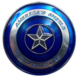 Metal police souvenir coin in enamel craft for America's shield