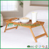 Bamboo breakfast bed tray with foldable legs