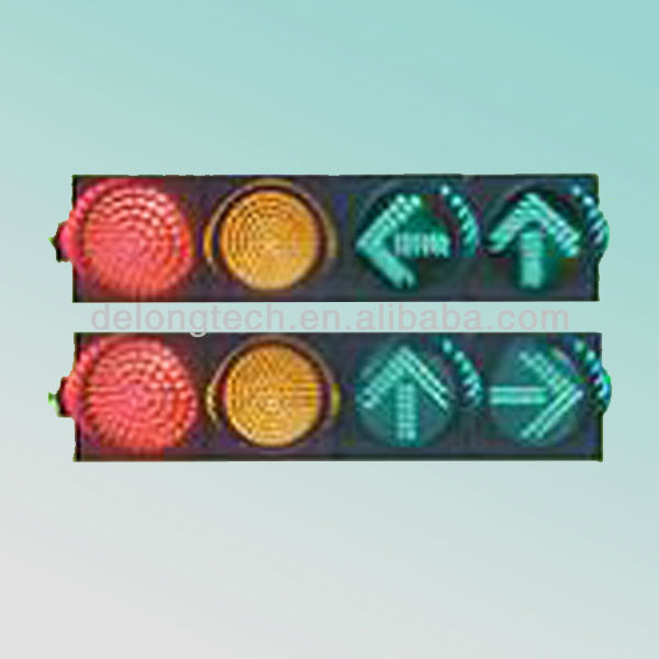 CE and RoHS 200mm waterproof red green yellow led traffic warning light