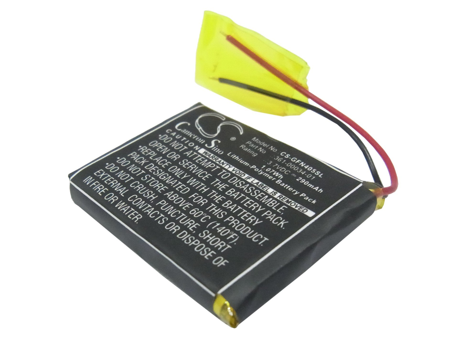 Cameron Sino 290mAh / 1.07Wh Battery Compatible With Garmin Foretrex 405, Foretrex 405cx, Foretrex 401, Fenix 3