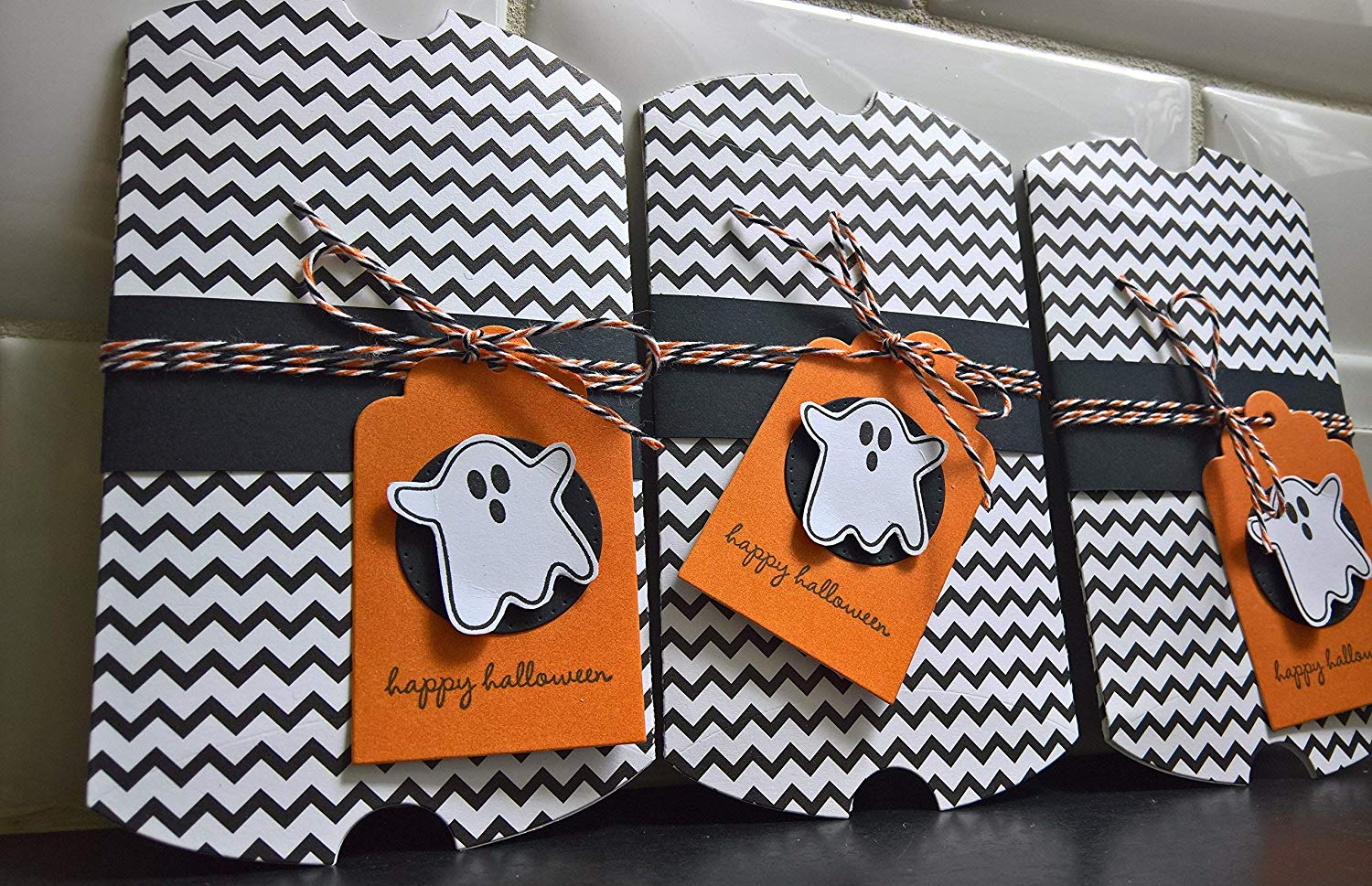 Halloween Gift Card Holder, Ghost Treat Box, Pillow Box