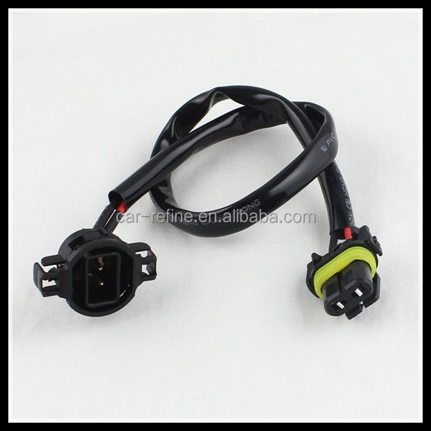 5202 TO 9006 EXTENSION CABLE Car HID Xenon LED H16/5202 to 9006/HB4 power Extension Wire Harness Sockets