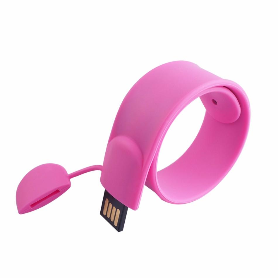 New black bracelet wrist band usb 2.0 memory stick thumb flash drive