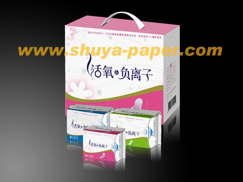 Gift Packing Anion Sanitary Napkin Herbal Sanitary Pad Manufacturer Disposable Panties with Pad