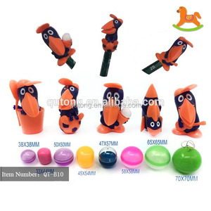 Cheap PVC surprise egg toy capsule toy ,pencil top for vending machine in stock