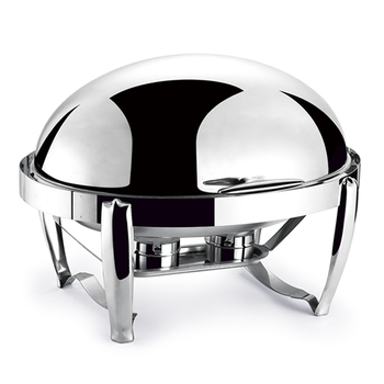 Oval shaped of stainless steel cafeteria equipment serving buffet chafing dish