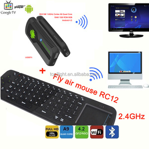 New Quad Core Android UG007B RK3188 2GB/8GB 1.6GHZ Youtube TV Stick Mini PC+R12 Keyboard Air Mouse