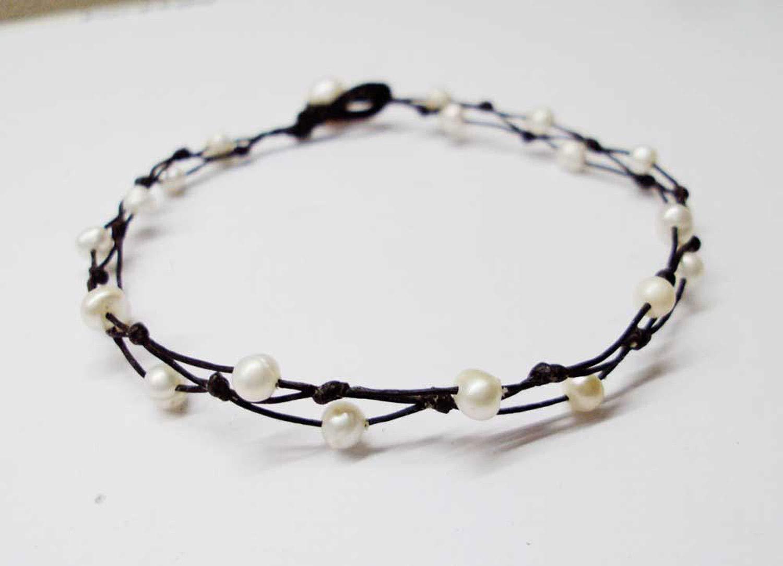 4 mm white freshwater pearl bracelets beaded bracelets white bracelets weddings bracelets friendship bracelets real pearl bracelets gift