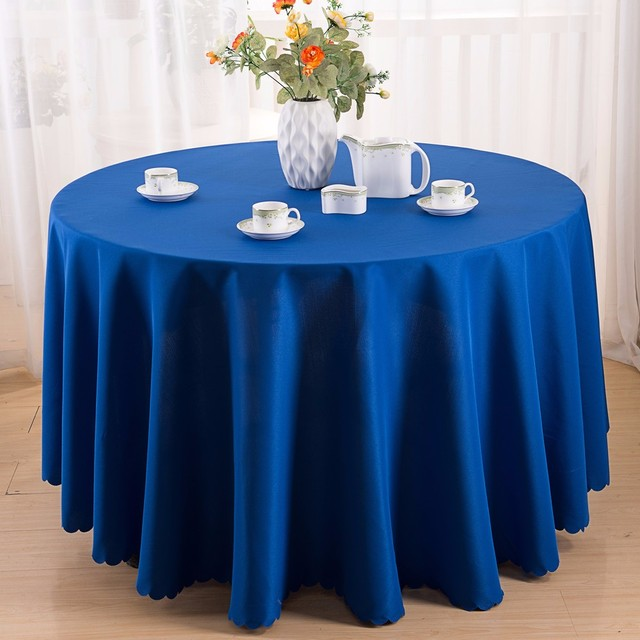 Wholesale Polyester Table Cloth Navy Blue Table Cloth Factory
