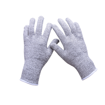 Shangyu Lingchen Custom Cut Level 5 Hppe Knitted Anti Cut Resistant Gloves  Kitchen Articulos De Pesca Meat Cutting Gloves - Buy Cut Resistant ...