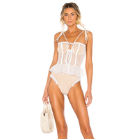 Girl Hot Sexy Micro Bikini Extreme Frills Womens Swimsuit Swimwear Transparent Lace Material Bathing Suit