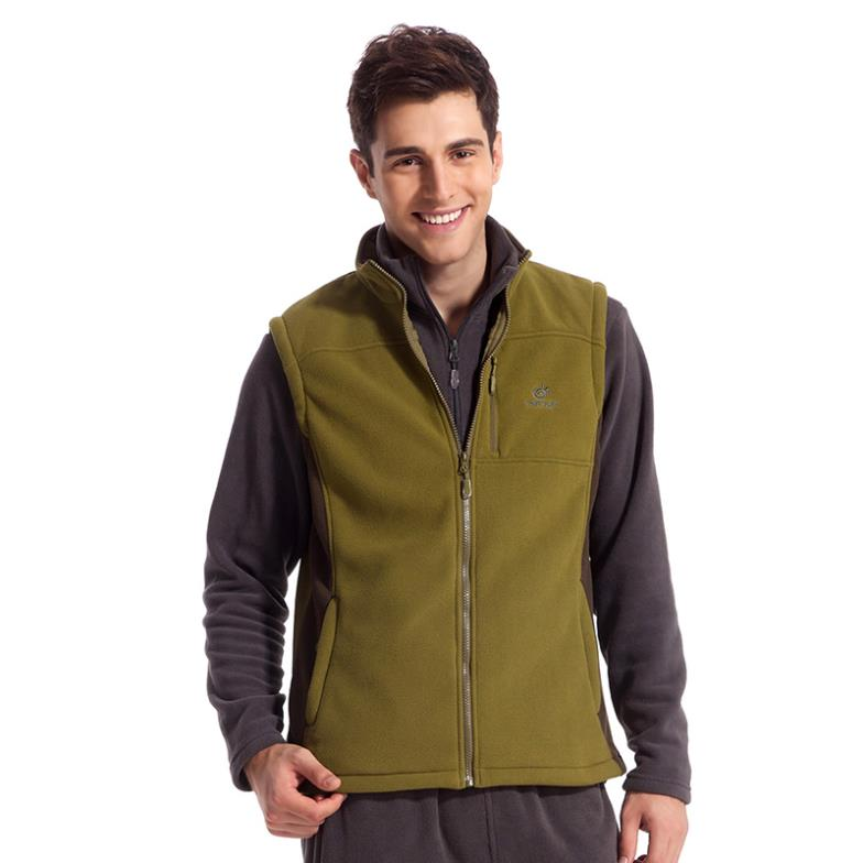 brand casual Outdoor sport running travel polar fleece Vest windproof cardigans Sleeveless Autumn and winter male mens for man
