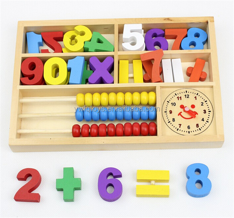 FQ brand early education intelligent child craft wood toys kids wooden teacher abacus