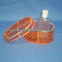 Oval gauze storage box with lid holiday gift mini wire package box