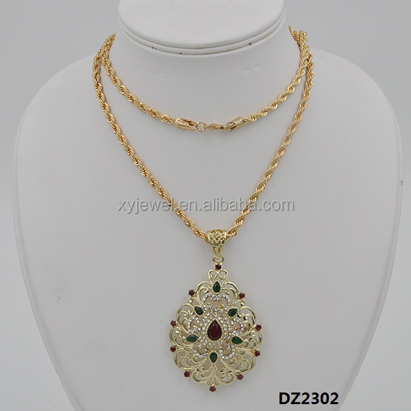 Custom Fashion Girls Alloy Necklace Pendent