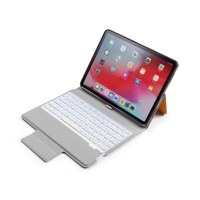 Free sample factory direct sale leather cover material bluetooth keyboard case for Ipad Pro 11