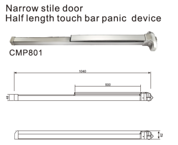 Narrow Stile Door Rim Type Touch Bar Panic Exit Device  sc 1 st  Alibaba & Narrow Stile DoorRim Type Touch BarPanic Exit Device - Buy Panic ...