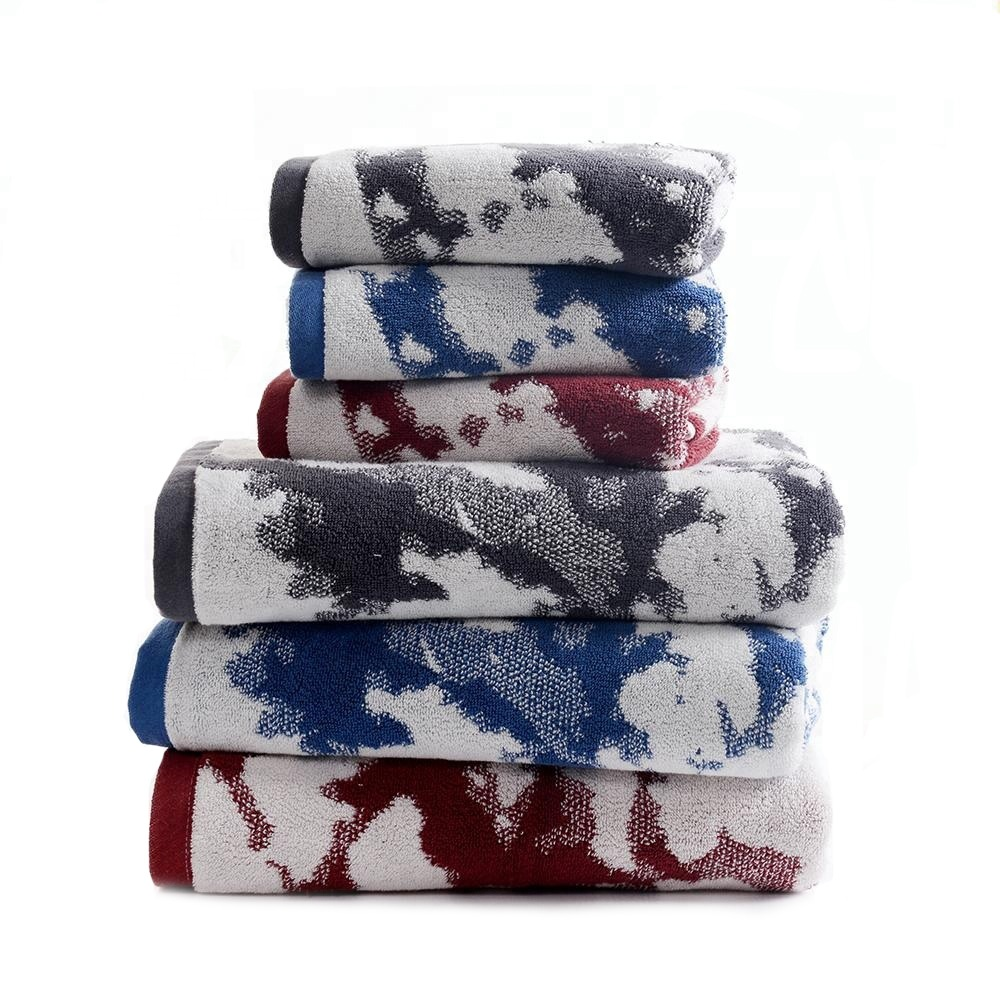 China factory wholesale high quality Japanese 100% cotton yarn dye terry brand towel thick tea towel and bath towels